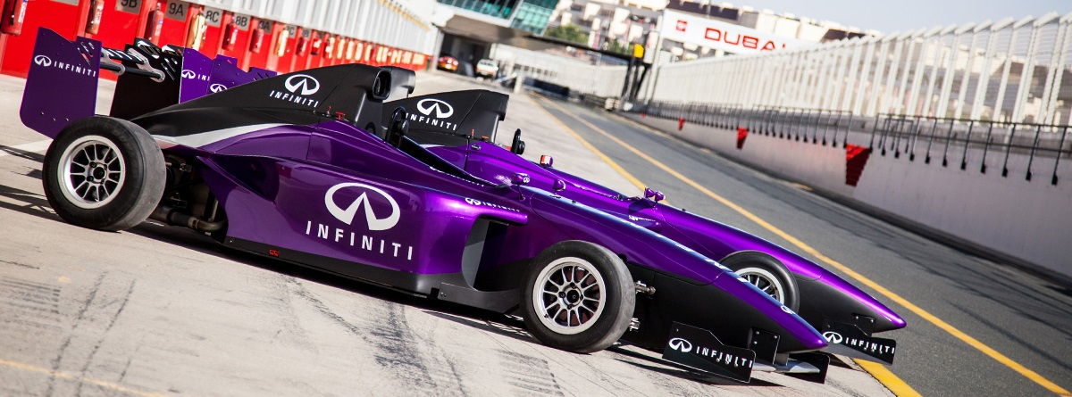 Infiniti single seater racing car wraps