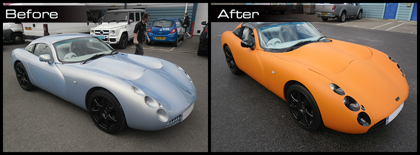 Orange TVR Tuscan carp wrap
